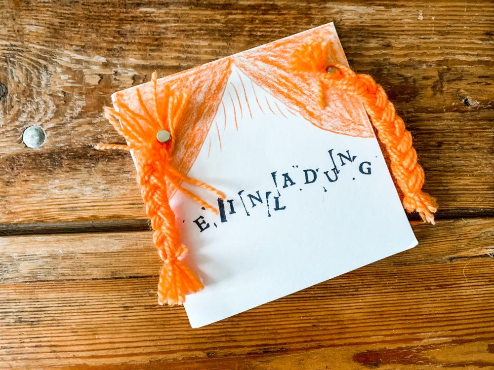 Pippi Langstrumpf Party Einladung